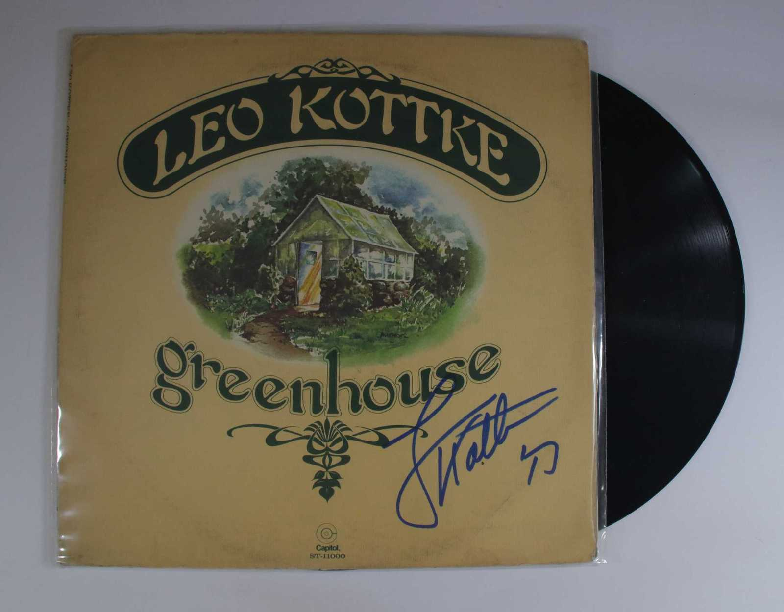 "Primary image for Leo Kottke Signed Autographed ""Greenhouse"" Record Album"