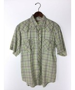 Kapital Men's Short Sleeve Shirt Free Size Green Color Cotton Check Patt... - $82.99