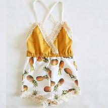 summer kid baby girls strap sleeveless romper clothes - $8.92+