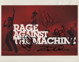 Rage Against The Machine FULLY SIGNED Photo + COA Lifetime Guarantee - $199.99