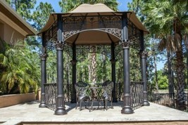 12Ft. Gazebo Pergola Aluminum Bronze Finish Garden Patio Outdoor - $7,274.03