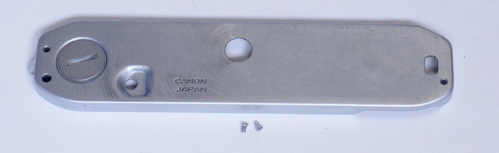 CANON AE-1 Bottom Cover Door w Screws Vintage SLR Film Camera Parts Japan
