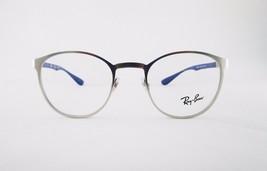 Ray Ban RX6355 2538 Optical Frame Metallic Round Blue Eyeglasses - $46.55