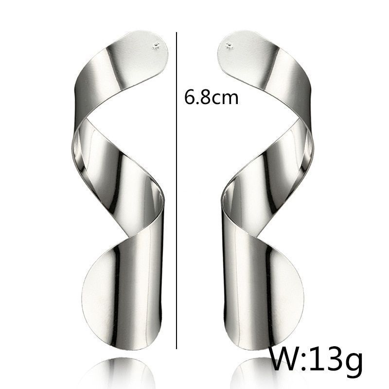 High Quality Alloy Metal Drop Earrings For Women Large Size Push Back Close Back