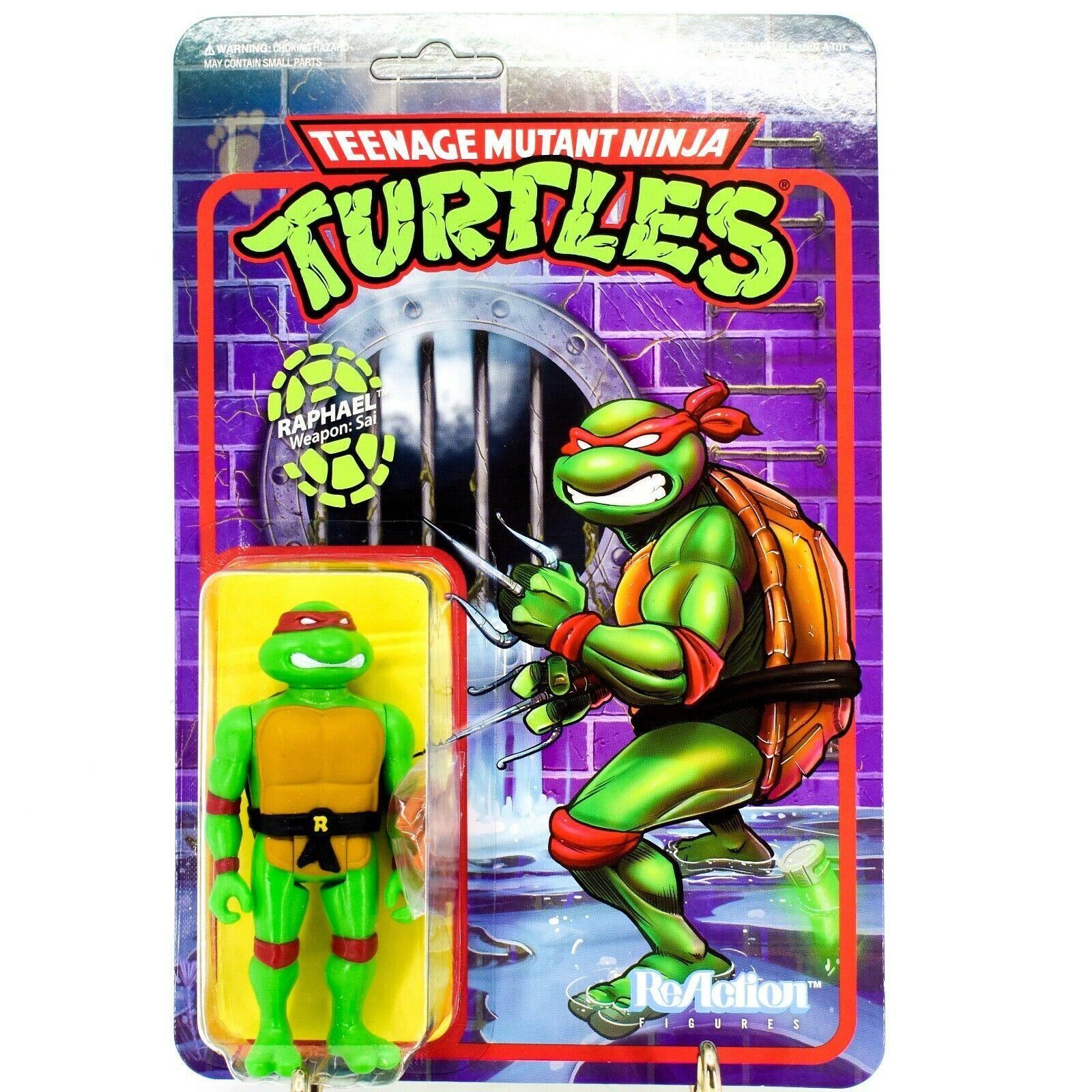 Super7 Teenage Mutant Ninja Turtles TMNT Raphael w Sai ReAction Reissue Figure