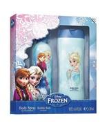 AIR-VAL 2pc Set DISNEY FROZEN Great Gift BODY SPRAY+BUBBLE BATH Anna+Els... - $9.97
