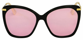 NEW Gucci Sunglasses GG0510S 002 Black Gold/Pink Lens Square 56mm - $242.50