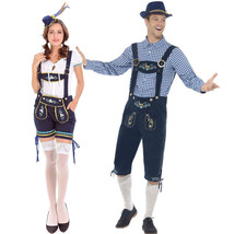 German Oktoberfest Beer Festival Waiter Waitress Couple Costume - $44.23