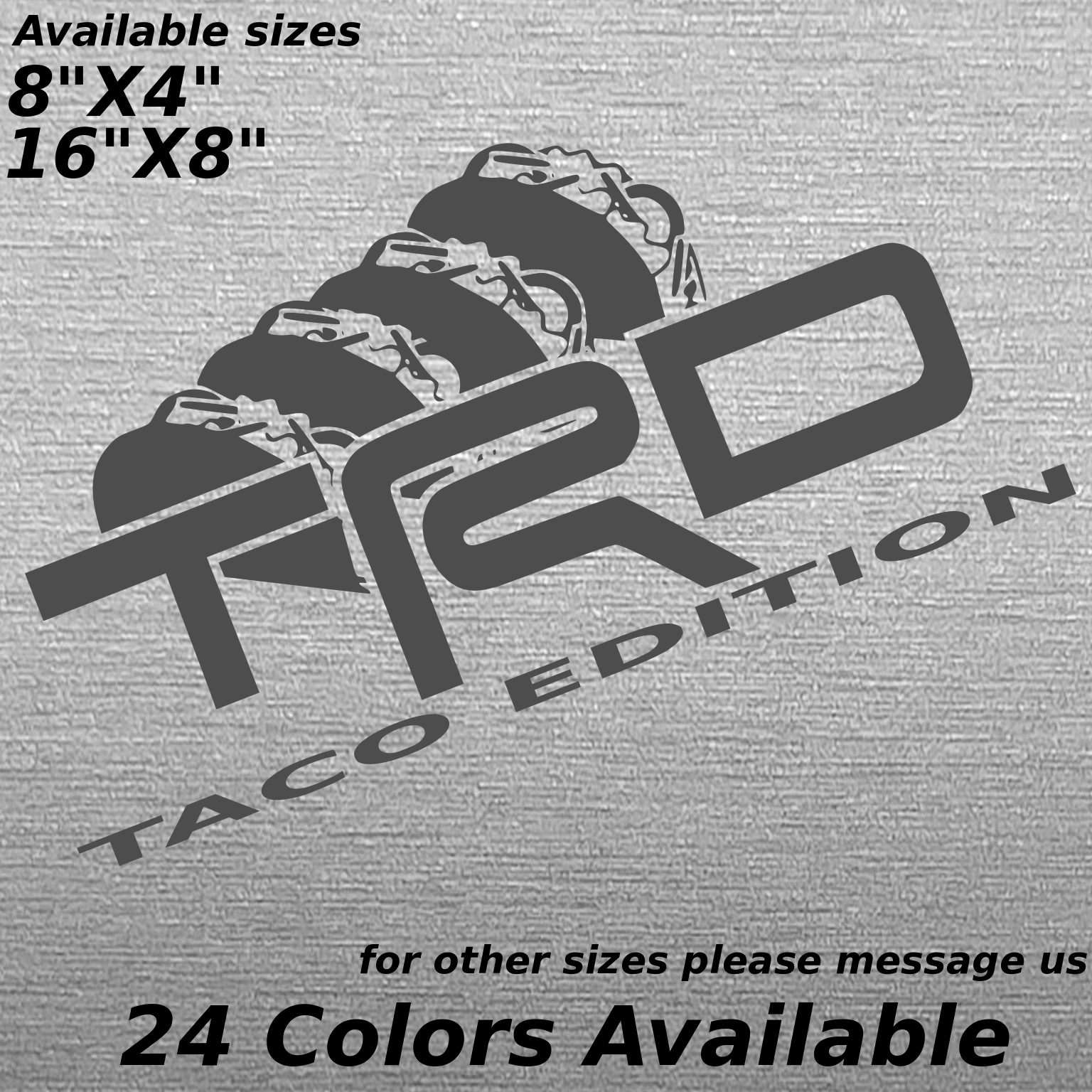Toyota tacoma TRD custom bedside decal sticker Taco offroad