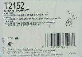 Moen T2152 Brantford Chrome POSI Temperature Single Handle Shower Trim image 4