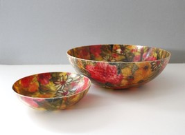 Vintage Fiberglass Chip & Dip Bowl Set Serving Bowls Flowers Pink Mid Ce... - €19,87 EUR