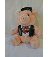 Harley Davidson Motor Cycles Pig Stuffed Plush wearing T Shirt Hat Vest - $16.82