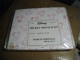 DISNEY Mickey Mouse ICON shower curtain NEW IN PACK old stock 16713 coll... - $19.77