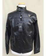 NWT Luxury Collection By Emporio Collezioni Mens Faux Leather Jacket Bla... - $58.41