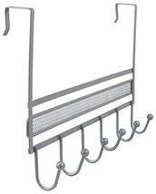 DecoBros Over The Door 6 Hook Organizer Rack - Silver image 12