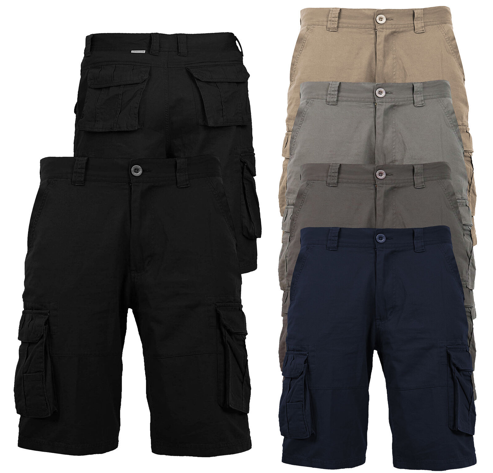 Men's Cotton Multi Utility Pockets Relaxed Fit Casual Outdoor Army Cargo Shorts