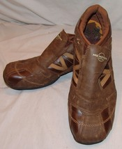 Merrell Memphis One Maxium Brown Casual Shoes Mens 12 Loafers Slip On - $24.21