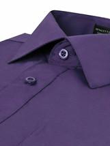 Omega Italy Men's Long Sleeve Slim Fit Purple Dress Shirt w/Defect Medium image 2