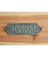 Admiral Sign Plaque Nautical Admirals Quarters Wall Decor Coastal Beach - $13.85