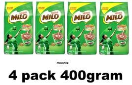 4x  (400g/14,1oz) Nestle MILO Activ-Go Chocolate Malt Powder Soft Pack Soft Pack - $25.54