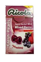 (Pack of 10) Ricola Herbal Sugar-Free Mixed Berry Fresh Mints 25g  - $23.75