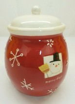 Hallmark Christmas Snowman Merry Day Cookie Treat Dessert Jar - $19.79