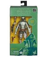 Star Wars Carbonized Boba Fett 40th Anniversary Black Series 6 in action... - $35.98
