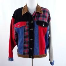 Vintage 80s Carole Little Sport Patchwork Jean Style Jacket Womens Sz 12 - $58.04
