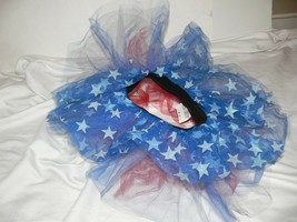 Red White Blue  Tutu Skirt Costume Youth Girls One size kn - $12.99