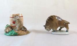 Dos Figuras Porcelana de los Cuales El Zsolnay Bison E Otra G Ratón Mick... - $196.14