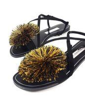 301 040 6606 Pompom Women sandals AU Zara nUXq7Y