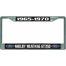 shelby mustang gt350 1965-1970 ford auto car chrome license plate frame usa made - $28.49
