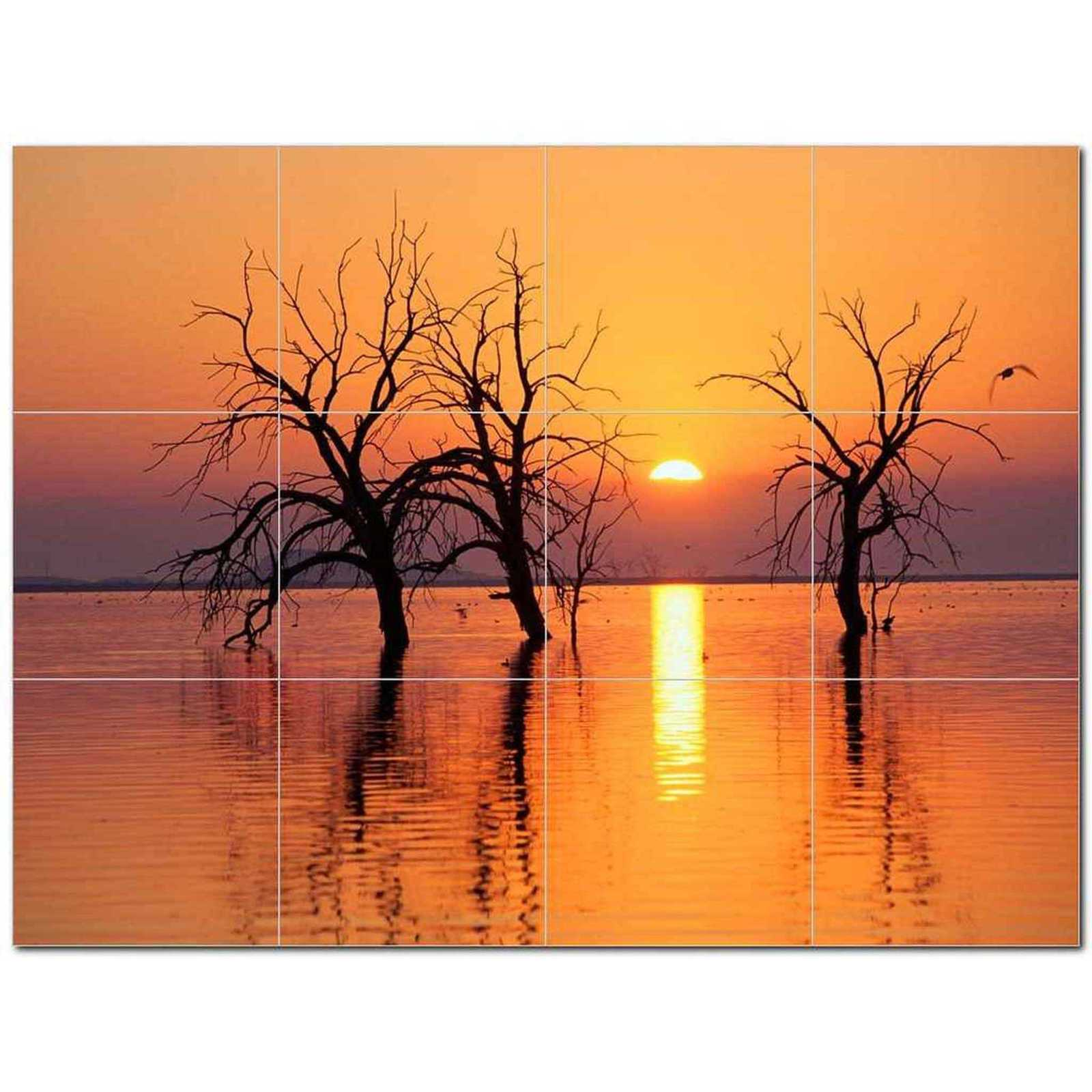 Primary image for Sunset Photo Ceramic Tile Mural Kitchen Backsplash Bathroom Shower BAZ405898