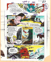 Original 1975 Batman vs Apes Brave & the Bold DC comic color guide art:J... - $99.50