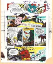 Original 1975 Batman vs Apes Brave & the Bold DC comic color guide art:Jim Aparo - $99.50