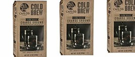 Cafe Ole by H?E?B Cold Brew Dark Roast Coarse Ground Coffee 12 Oz( Pack of 3) - $39.99