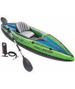Intex 68305EP Challenger K1 Inflatable Kayak with Oar and Hand Paddle - $158.39