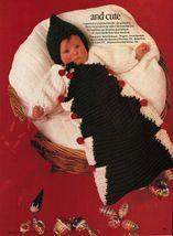 8 Baby Christmas Tree Loop Stitch Bunting Sleeping Bag Knit Crochet Patt... - $12.99