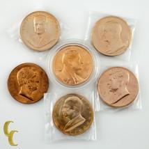 US President Mint Medals Lincoln, Johnson, Eisenhower, JFK, Truman, Roosevelt - $30.29