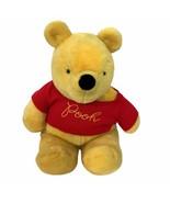 "Sears Gund Winnie The Pooh Disney Red Sweater Vintage Soft Plush Large 23""  - $26.18"