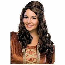 Renaissance Girl Medieval Braids Wrap Women's Brown/Auburn Costume Wig - $11.95