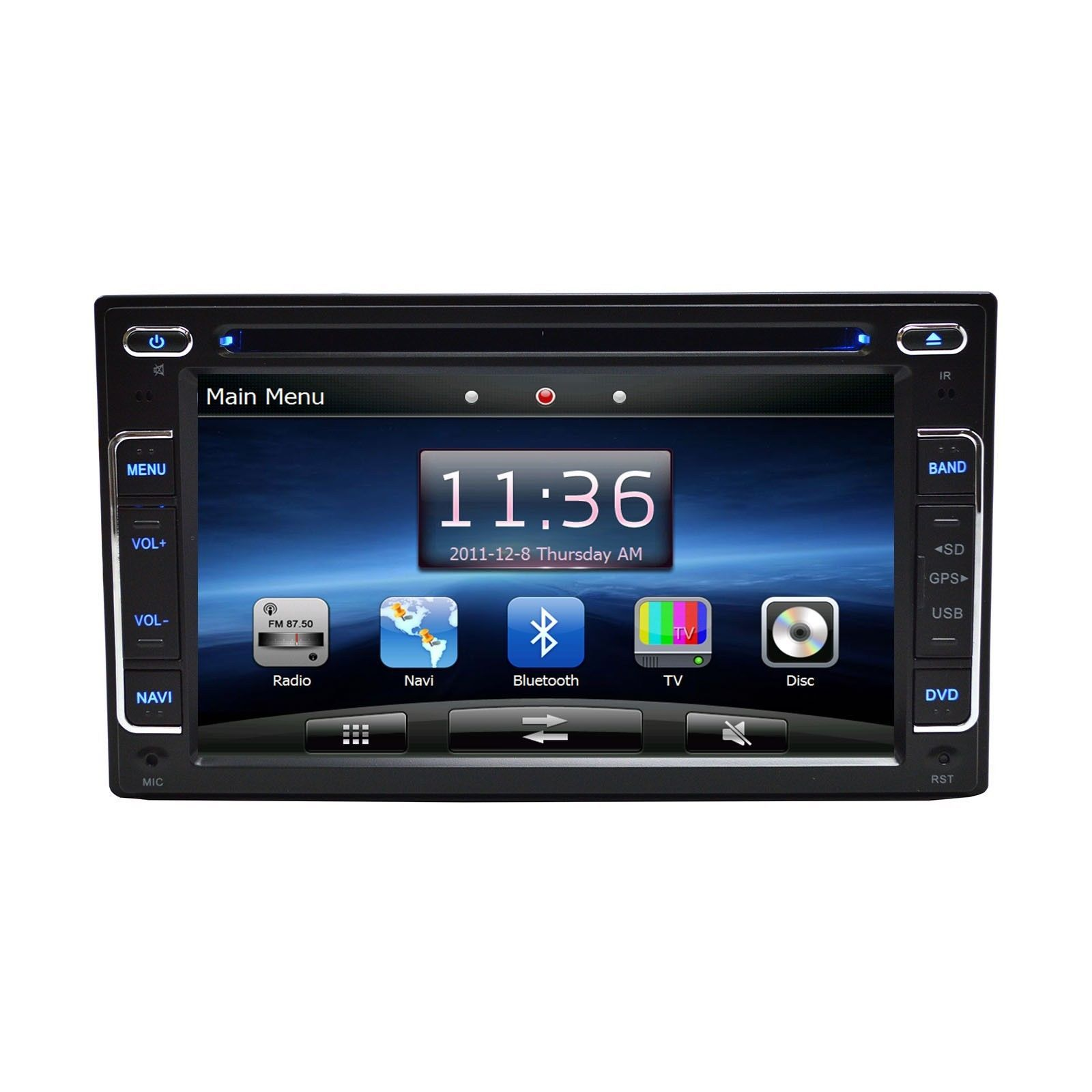 "6.2"" DVD Navigation Multimedia Touchscreen Radio for 2002 Jeep Liberty"
