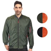 Maximos Men's Lightweight Water Resistant Reversible Flight Bomber Jacket MIKE
