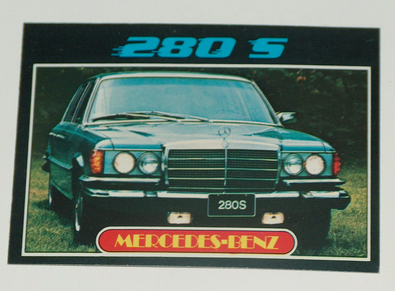 Primary image for 1976 Topps Autos of 1977 Mercedes Benz 280 S Car Card #74 VG-EX Condition