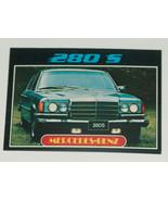 1976 Topps Autos of 1977 Mercedes Benz 280 S Car Card #74 VG-EX Condition - $13.84