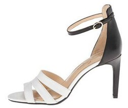 Women's Shoes Jessica Simpson MASELLI Strappy Heels Sandals WHITE BLACK - $44.99