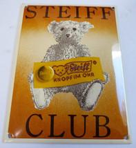 Steiff Club Button in Ear Knopfim Ohr Porcelain Enamel Metal Advertising... - $122.02