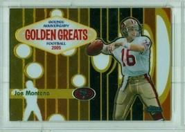 2005 Topps Chrome Joe Montana #GA1 Golden Anniversary Greats Gold Refrac... - $24.74