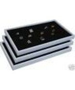 3 BLACK RING JEWELRY DISPLAY CASE ORGNIZER INSERT NEW - $33.95