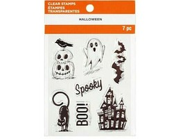 """MSPCI Halloween Clear Cling Stamp Set """"Halloween"""" #662000"""